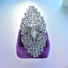 Art Deco Brooch Conversion Ring