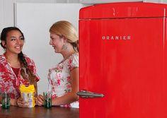 Jetzt heißt es wirklich Farbe bekennen. Retro-Kühlschränke in Trend-Farben setzen Akzente. Foto: Oranier/akz-o