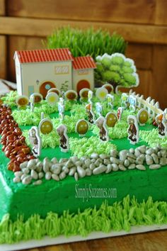 Simply Suzanne& AT HOME: a plants vs zombies birthday celebration. Zombie Birthday Cakes, Zombie Birthday Parties, Zombie Party, 8th Birthday, Birthday Celebration, Plants Vs Zombies, P Vs Z, Party Food And Drinks, Party Cakes