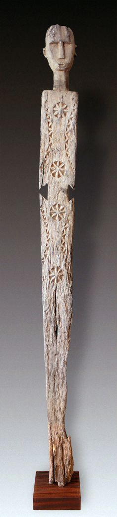 Africa | Old memorial post ~ 'kigango' ~ from the Giryama people of Kenya | Khaya Mahogoni wood.