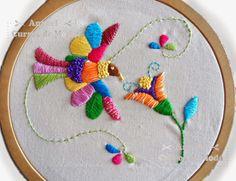 bordados mexicanos - Buscar con Google Mexican Embroidery, Cute Embroidery, Hand Embroidery Stitches, Crewel Embroidery, Hand Embroidery Designs, Embroidery Techniques, Cross Stitch Embroidery, Embroidery Patterns, Bordados E Cia