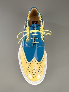 a new way to shop for fashion - a new way to shop for fashion Cesare Paciotti men´s footwear, yellow studs. Mega Funky and well make a statement, luv them 🙂 Leather Dress Shoes, Lace Up Shoes, Me Too Shoes, Best Shoes For Men, Men S Shoes, Mens Fashion Shoes, Brogues, Shoe Collection, Designer Shoes
