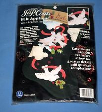 "VTG J&P Coats Christmas Peace Doves Felt/Applique/Sequins Stocking Kit NIP 18""! Christmas Stocking Kits, Felt Christmas Stockings, Peace Dove, Felt Applique, Nativity, Sequins, Coats, Wool, Ebay"