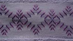 looks like Huck Weaving / Swedish Embroidery done on a pre-made towel with Aida…