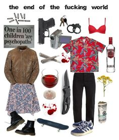 """""""the end of the fxxxing world"""" by gothbic ❤ liked on Polyvore featuring George, Isabel Marant, Vetements and Dr. Martens"""
