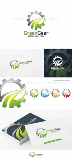 Green Gear - Logo Template Vector EPS, AI. Download here: http://graphicriver.net/item/green-gear-logo-template/13623992?ref=ksioks