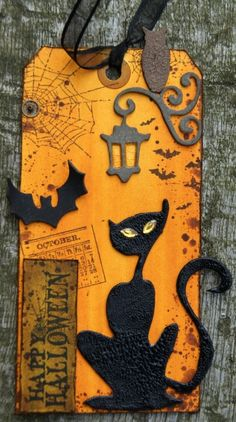 Concept could be used as altered book cover or page, Halloween photo album cover, scrapbook page...  (from original source)