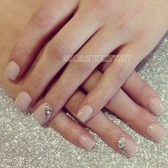 Nude nails. Love them a go to design when i grow my nails out.