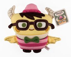 Francis plush by Scott Tolleson. This guy makes the best plush toys EVER. Definitely a true artist of his craft.