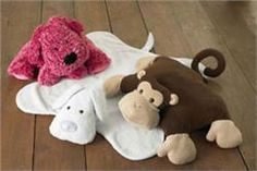 Kwik Sew Puppy & Monkey Pillows and Blankets Pattern  So, or should I say sew, cute an idea. Great for throwing on the livingroom floor for the toddler watching tv.