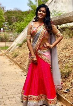 Eesha Rebba Girl Fashion Style, Fashion Week, Women's Fashion, Indian Actress Hot Pics, Indian Actresses, Indian Ladies Dress, Half Saree Lehenga, Lehenga Blouse, Wonder Woman Movie