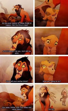 The Lion King.  No one ever means for these things to happen Simba....