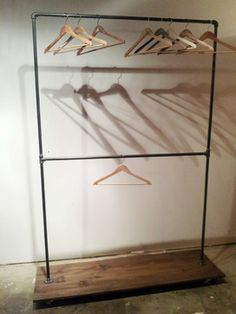 Double Row Rack - industrial - clothes racks - los angeles - penny lane & whitney j