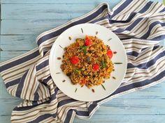 Quinoa+con+mix+di+verdure+e+semi+tostati
