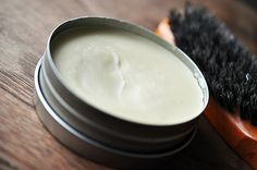 This hair balm is great for dry ends. Massage a wee bit into your ends and brush in with a boar bristle brush, and you've got wonderfully soft, non-greasy ends!