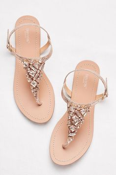 b492f289da3a Jeweled Metallic Ankle-Strap Thong Sandals Style RIO