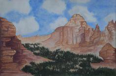 Watercolor Pyramid rock, Gallup