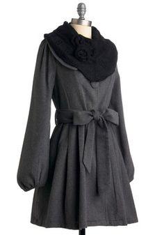 Chimney Plume Coat, #ModCloth