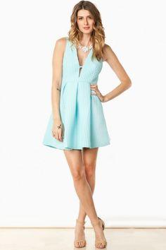 Dare To Bare Dress in Sky Blue