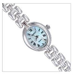 Silver Watch, Oval by UK Gems Expensive Watches, Most Expensive, Bracelet Watch, Gems, Bracelets, Silver, Accessories, Amazon, Jewelry