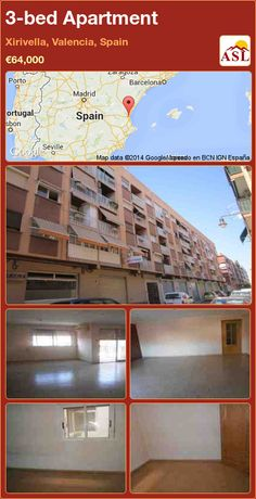 3-bed Apartment in Xirivella, Valencia, Spain ►€64,000 #PropertyForSaleInSpain