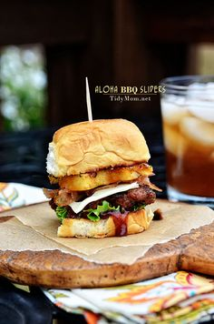 Aloha BBQ Sliders | burger recipe at