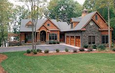 The Glen Creek Luxury Home has 4 bedrooms, 3 full baths and 1 half bath. See amenities for Plan 129S-0023.