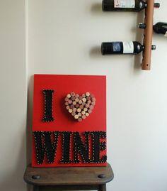 I Love Wine String Art Wall Decor by FILATURE on Etsy