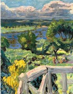 Pierre Bonnard - Coup de soleil (La terrasse de 'Ma roulotte' à Vernonnet), 1916. Oil on canvas, 53 x 41 cm.