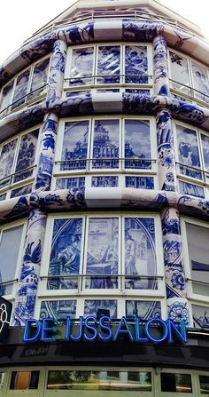 Building The Teapot - West Kruiskade - Rotterdam - The Netherlands Malta, The Hague, Amsterdam Netherlands, Beautiful Buildings, Beautiful Places, Blue China, Delft, Chinoiserie, Dutch