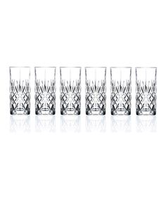 Another great find on #zulily! Crystal Highball Glass - Set of Six by Lorenzo Imports #zulilyfinds