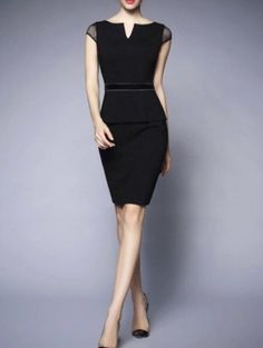 Check the details and price of this Cap Sleeve Peplum Bodycon Midi Dress (Black… Black Peplum, Black Midi Dress, Day Dresses, Dresses Online, Dress Skirt, Bodycon Dress, Peplum Dresses, Bandage Dresses, Sheath Dress