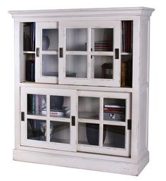 Bookcase With Sliding Gl Doors