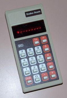Handheld calculators The first handheld calculator was