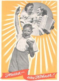 Vintage German harmonica ad