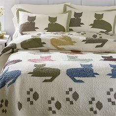 quilt cat patterns | Cat Quilt Pattern / Calico Kitty Quilt -- Orvis