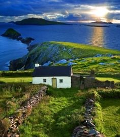Can I live here? A cottage by the sea. Ireland.