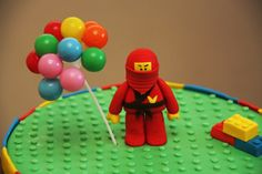 Ninjago cake topper (she said it's easy to make...and it looks easy indeed!)  by bronniebakes  I did the topper and i love it! her tutorial is easy to follow for a beginner like me... :)