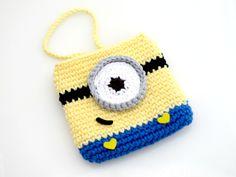 Despicable Me Minion Pouch. Crochet. Purse. by EuniceNeedlecraft, $119.99