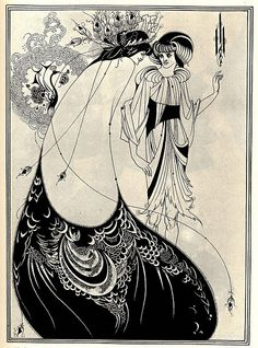 """The Peacock Skirt"", illustration by Aubrey Beardsley for Oscar Wilde's play Salomé (1892)"