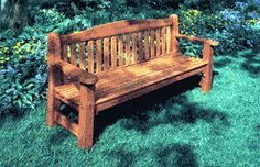 This attractive, slat-back Bench makes a perfect back yard spot for whiling away a beautiful Spring or Summer morning