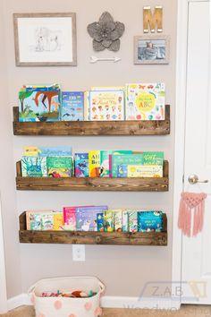 Floating Nursery/Kids Bookshelf | Etsy