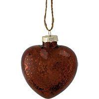 Bronze Mercurised Glass Heart Christmas Tree Decoration #HomebaseMumsnetXmas #Christmas #Festive