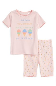 c438c4db00 Tucker + Tate Fitted Two-Piece Pajamas (Infant Girls   Baby Girls)
