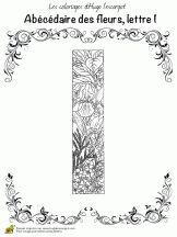 abecedaire belles fleurs a lettre i