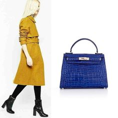 This beautiful Small Eva Cobalt handbag is the most coveted piece ideal to make a statement ! Style, elegance and high-end quality all in one bag.