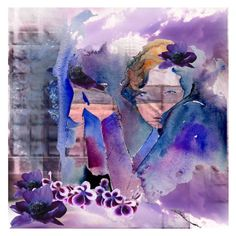 """Purple ..."" by jojona-1 ❤ liked on Polyvore featuring art"