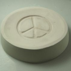 Peace Sign mold for fusing 750mL bottle bottoms.  $15
