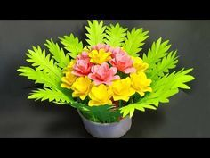How To Make Paper Flower Bouquet For Table Decoration Paper