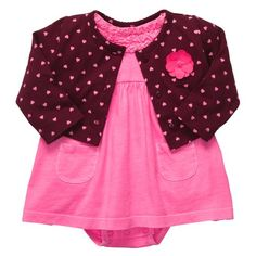 Carters 2pc Dress Set  Soild Pink18 Months -- Continue to the product at the image link.